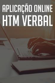 HTM Verbal - Aplicação Online  HTM Verbal - Aplicação Online